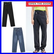 [OPEN THE DOOR]  unbalanced lab jeans (2 color) /追跡付