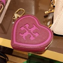 2019 NEW♪ Tory Burch ★ LOGO HEART KEY FOB (コインケース)