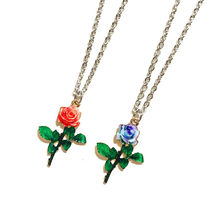★WANDERINGYOUTH★韓国 ローズ ネックレス Rose necklace 全2色