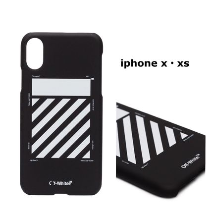 Off-White スマホケース・テックアクセサリー 関税・送料込み☆  DIAGS CARRY OV  iPhone X XS ケース