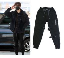 【LAUL] BTS着用TRIPLE POCKET STRAP CARGO PANTS BLACK
