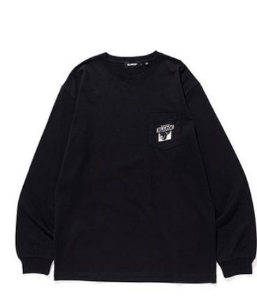 X-Large Tシャツ・カットソー 限定 記念 Tシャツ XLARGE L/S TEE NAGOYA 8th ANNIV ブラック(2)