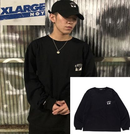 X-Large Tシャツ・カットソー 限定 記念 Tシャツ XLARGE L/S TEE NAGOYA 8th ANNIV ブラック