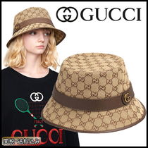 GUCCI ★新作★人気 キャンバス フェドラハット 国内発送