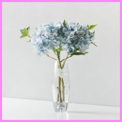 Blooming&me フェイクグリーン 【Blooming&me】柔らかな色合いのアジサイの花瓶セット(造花)