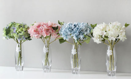 Blooming&me フェイクグリーン 【Blooming&me】柔らかな色合いのアジサイの花瓶セット(造花)(11)