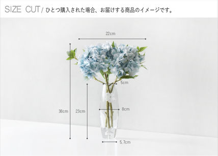 Blooming&me フェイクグリーン 【Blooming&me】柔らかな色合いのアジサイの花瓶セット(造花)(19)