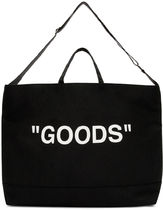 """OFF-WHITE ★ """"GOODS"""" QUOTE TOTE BAG トートバッグ ブラック"""