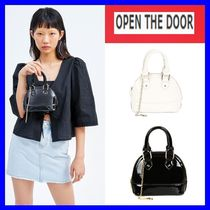 [OPEN THE DOOR]   enamel petit bag (2 color) /追跡付