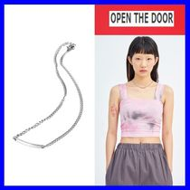 [OPEN THE DOOR]    stick chain silver necklace /追跡付