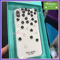 【kate spade】キラキラ小花★ iphone X/XS/XS Max/XR ★クリア
