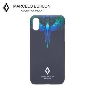 Marcelo Burlon スマホケース・テックアクセサリー NEW▼Marcelo Burlon▼Blue Wing iPhoneX/X MAXケース