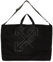 OFF-WHITE // UNFINISHED TOTE BAG 未完成アロートートバッグ 黒