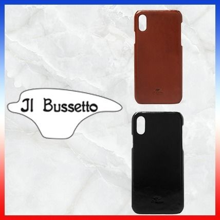 IL BISONTE スマホケース・テックアクセサリー ★大人気★IL BUSSETTO★レザーIPhone Xケース