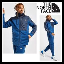 The North Face★大人気★ロゴプリント 上下 セットアップ 青
