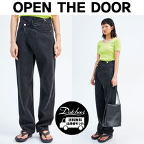 OPEN THE DOOR(オープンザドア) デニム・ジーパン OPEN THE DOOR unbalanced lab jeans HM129  追跡付