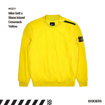 人気話題コラボゴルフNike Golf x Stone Island Crewneck Yellow