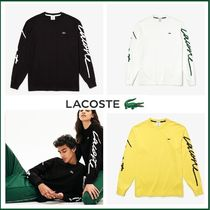UK発☆Lacoste LIVE☆スクリプト ロゴ 長袖Tシャツ