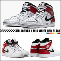 [NIKE]★日本未入荷★Jordan 1 Mid White Black Gym Red★
