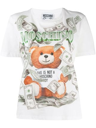 Moschino Tシャツ・カットソー 〔国内発送〕MOSCHINO テディダラー Tシャツ レディース 2色☆(2)