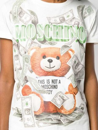 Moschino Tシャツ・カットソー 〔国内発送〕MOSCHINO テディダラー Tシャツ レディース 2色☆(6)