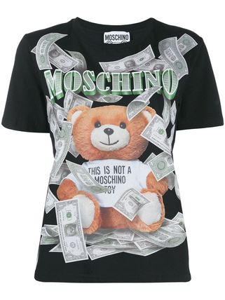 Moschino Tシャツ・カットソー 〔国内発送〕MOSCHINO テディダラー Tシャツ レディース 2色☆(9)