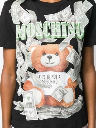 Moschino Tシャツ・カットソー 〔国内発送〕MOSCHINO テディダラー Tシャツ レディース 2色☆(13)