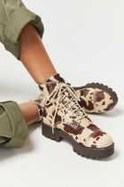 ★Urban Outfitters Juliette Calf Hair Treaded Lace-Up Boot★