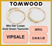 ■VIPSALE■ Tom Wood Mini Ear Loops Gold Green Tsavorite