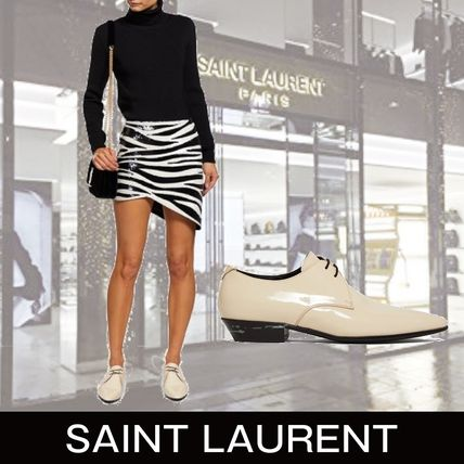 Saint Laurent シューズ・サンダルその他 Saint Laurent Jonas patent-leather derby shoes