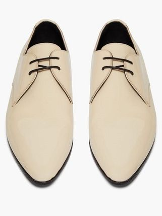 Saint Laurent シューズ・サンダルその他 Saint Laurent Jonas patent-leather derby shoes(5)