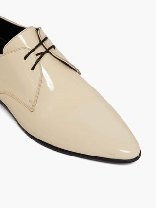 Saint Laurent シューズ・サンダルその他 Saint Laurent Jonas patent-leather derby shoes(6)