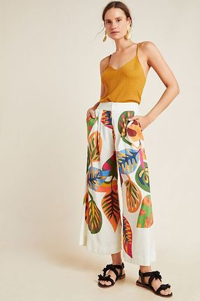 セール! Farm Rio for Anthropologie Cropped Wide-Leg Pants