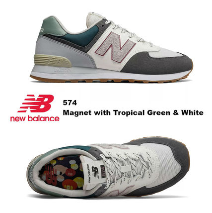 check out 6f825 f6c85 完売必須!! New Balance 574 Magnet with Tropical Green&White