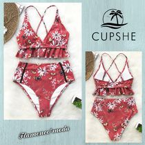 CUPSHE(カップシー) ビキニ 関税込★CUPSHE★BUTTERFLY AND FLORAL RED*ビキニSET(C189)