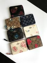 完売柄 COACH★二つ折り財布 SMALL ZIP AROUND WALLET