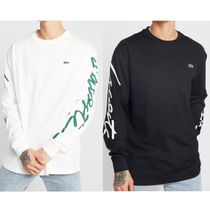 【LACOSTE】☆Lacoste LIVE☆ ロゴ入り ロングTシャツ/2色
