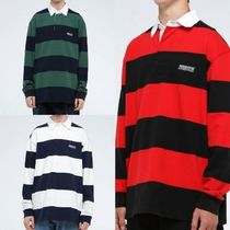 韓国発 this is neverthat Striped Rugby Shirt ラガ−シャツ