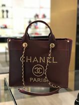 2019 C H A N E L ★再入荷のDeauville SMALL 33 IN Burgundy