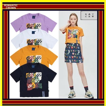 ROMANTIC CROWN Tシャツ・カットソー [ROMANTIC CROWN] E.D.V Splinter Crop T Shirt [全4色] /追跡付