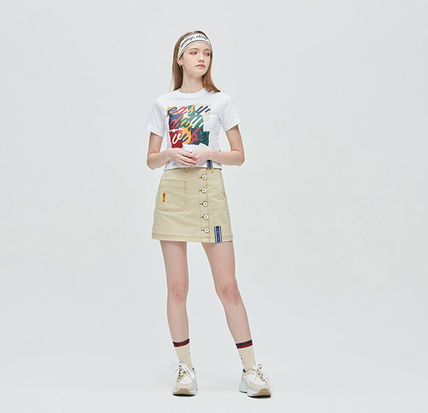 ROMANTIC CROWN Tシャツ・カットソー [ROMANTIC CROWN] E.D.V Splinter Crop T Shirt [全4色] /追跡付(16)