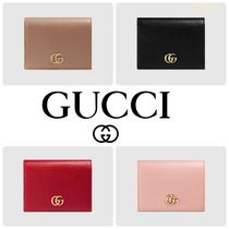 【GUCCI】Leather card case wallet