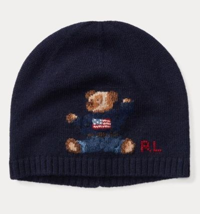 POLO RALPH LAUREN ファッション雑貨・小物 大人もOK☆Polo Ralph Lauren☆Bear Cashmere-Blend Hat☆