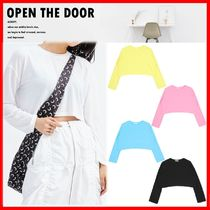☆韓国の人気☆【OPEN THE DOOR】☆Vivid Crop T☆5色☆