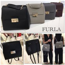 新作!SALE!!【FURLA】BELLA Backpack☆上品レザー☆2WAY☆関送込