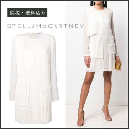 Stella McCartney ワンピース 【STELLA McCARTNEY】Fringed Shift Dress フリンジ ワンピース