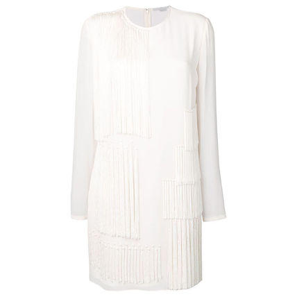 Stella McCartney ワンピース 【STELLA McCARTNEY】Fringed Shift Dress フリンジ ワンピース(2)