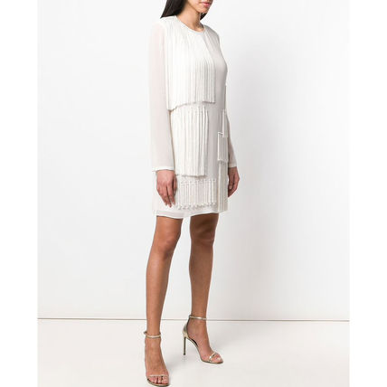 Stella McCartney ワンピース 【STELLA McCARTNEY】Fringed Shift Dress フリンジ ワンピース(4)