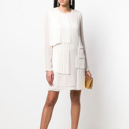 Stella McCartney ワンピース 【STELLA McCARTNEY】Fringed Shift Dress フリンジ ワンピース(7)