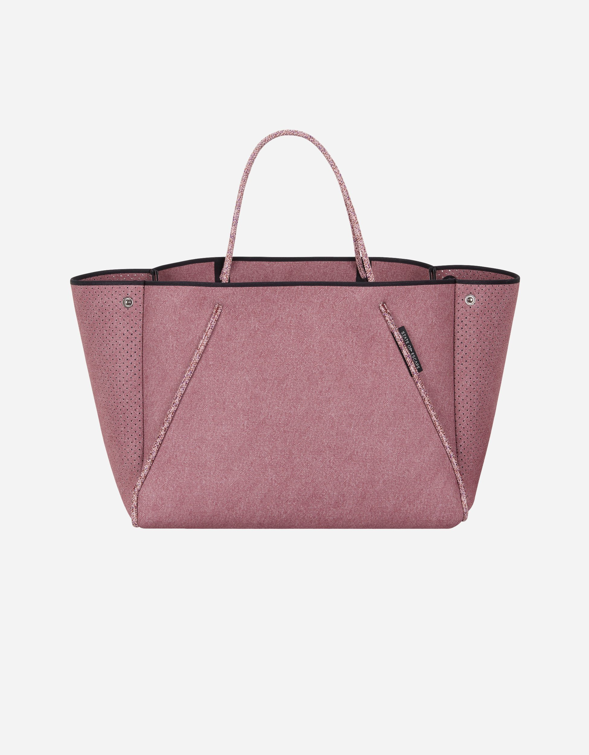 【state of escape】Guise tote bag(washed rose denim print) (State of Escape/トートバッグ) 46083217
